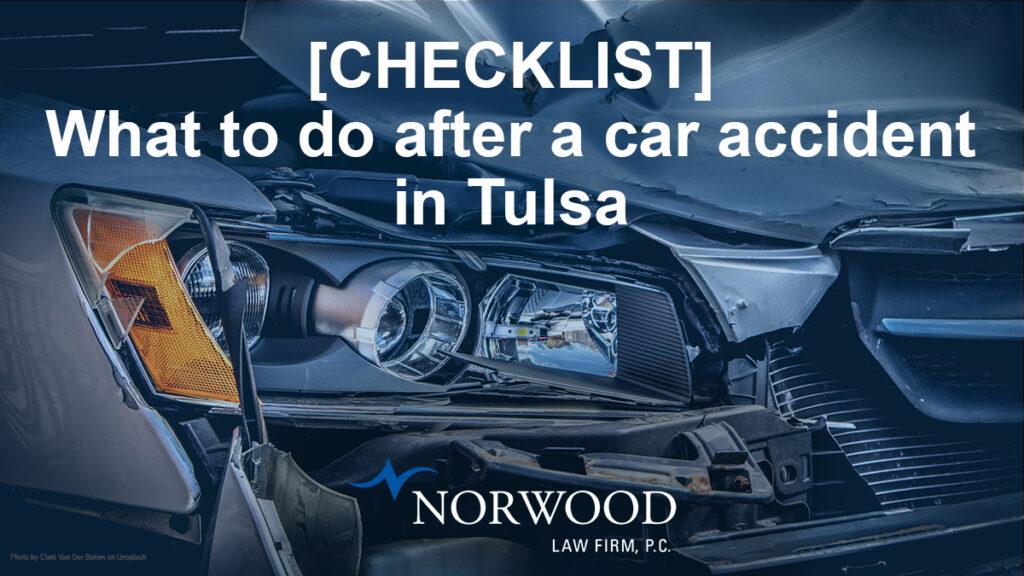 Car Wreck Checklist